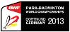 Para-Badminton Weltmeisterschaften 2013 in Dortmund - Logo