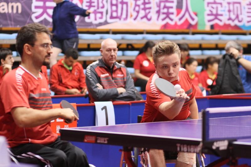 Jan Gürtler (l.) / Valentin Baus - Para-TT-WM 2014 in Peking (CHN) - Doppel WK 5 - Tag 4