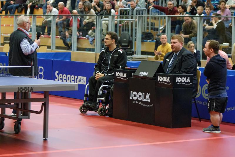 Peter Barz, Jan Gürtler (RSC Berlin), Dominic Perbey (BSV Wedding-Reinickendorf) (v.l.n.r) beim 3B-Final4 - Deutsche Pokalfinale der Damen