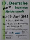 17. Deutsche Para-Badminton Meisterschaften 2015 in Wengern - klein