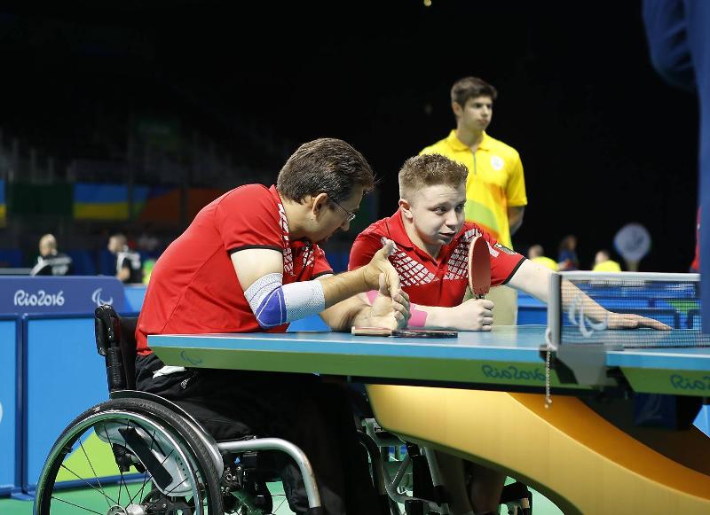 Paralympics 2016 in Rio de Janeiro (BRA) - Jan im Doppel mit Valentin Baus gegen Serbien